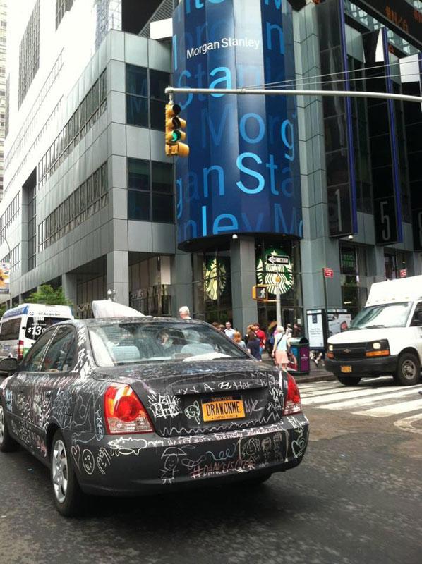 chalkboard art car philip romano new york (7)