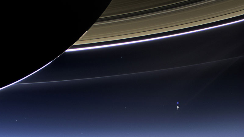 Picture of the Day: Earth from the Dark Side of Saturn