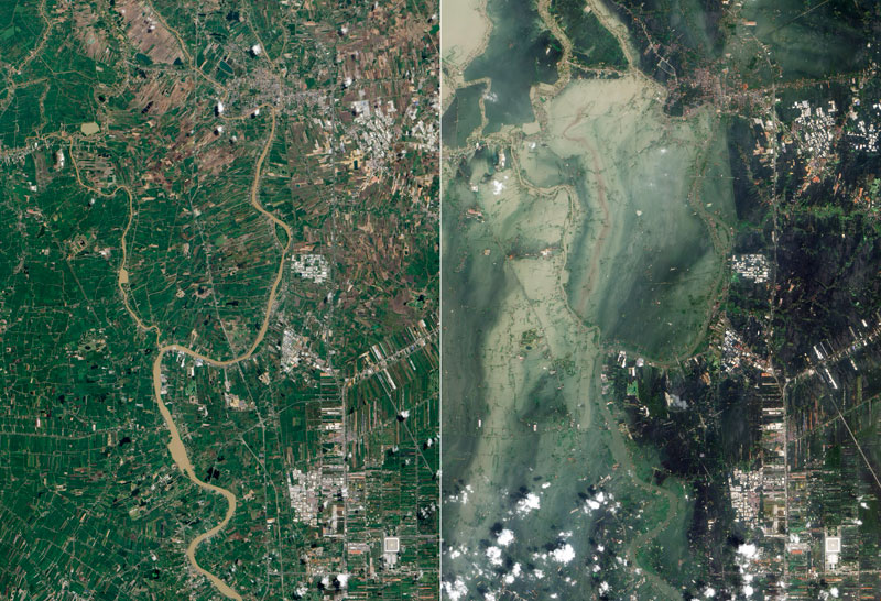 Picture of the Day: Flooding in Thailand – Before and After
