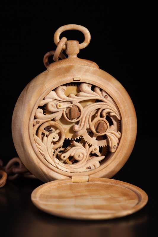functional watches made out of wood by Valerii Danevych (10)
