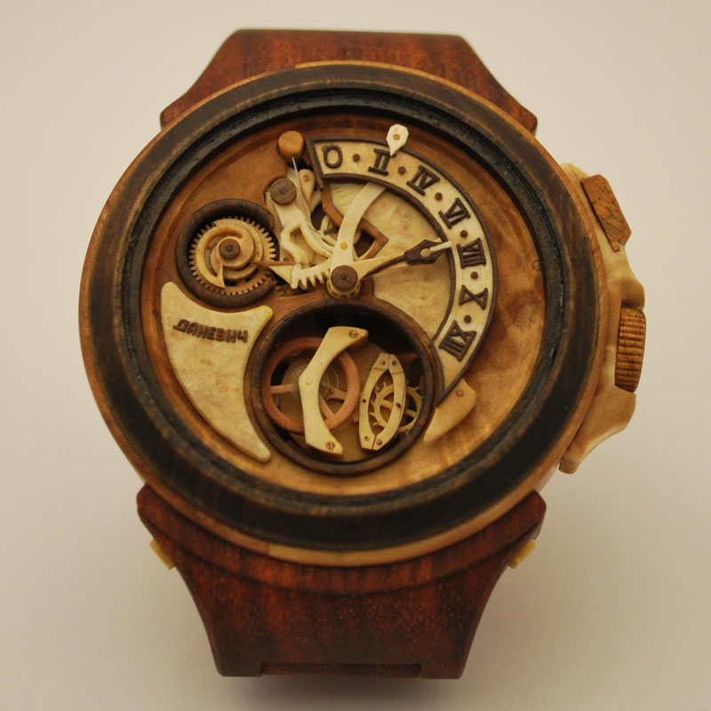 These Functioning Watches Were Carved From Wood