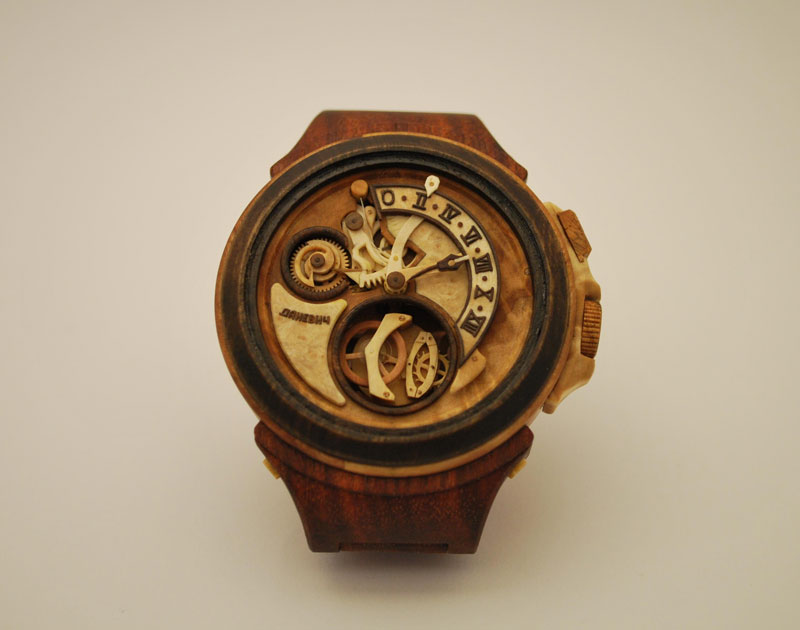 functional watches made out of wood by valerii danevych 5 15 Sculptures Made from Old Watch Parts