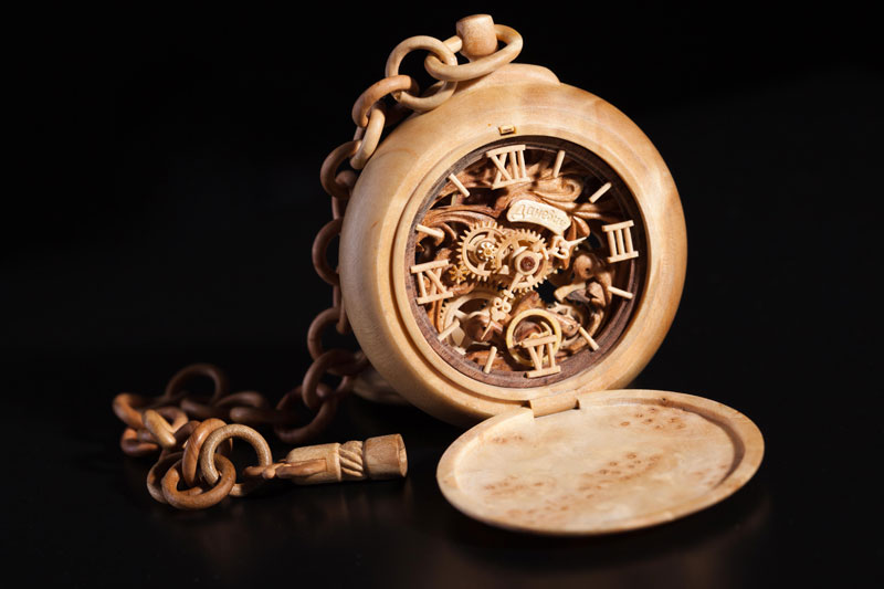 functional watches made out of wood by Valerii Danevych (9)