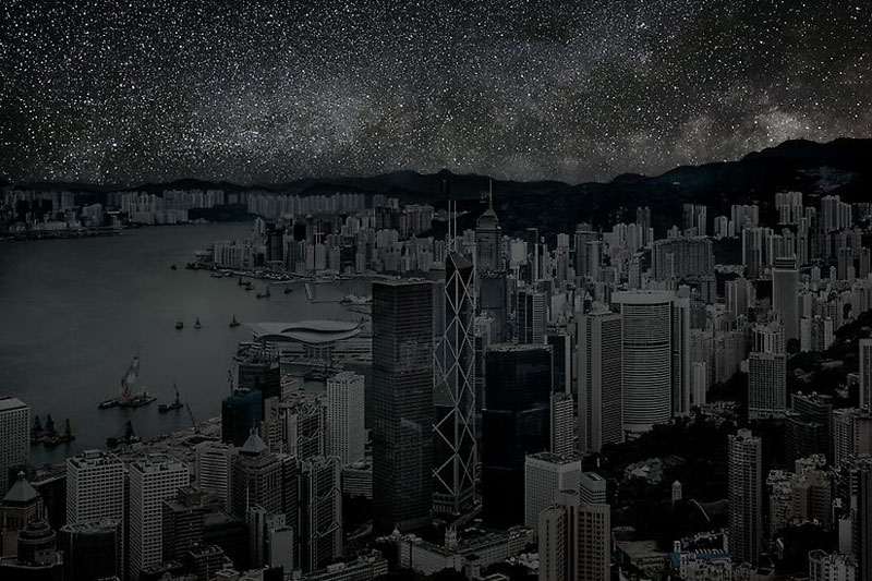 Hong_Kong_darkened cities by thierry cohen