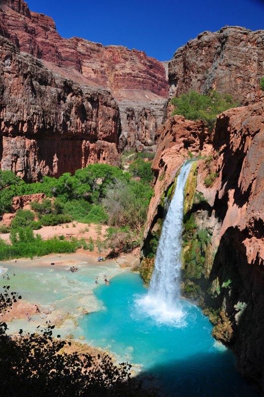 hvaasu falls grand canyon arizona 1 Chinas Cliffside Plank Path Will Give you Goose Bumps
