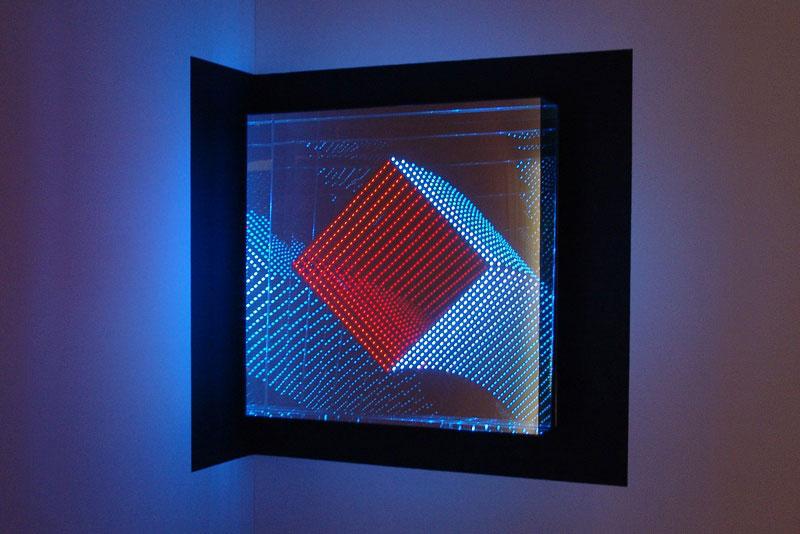 infinite LED artworks plexiglass mirrors hans kotter (6)