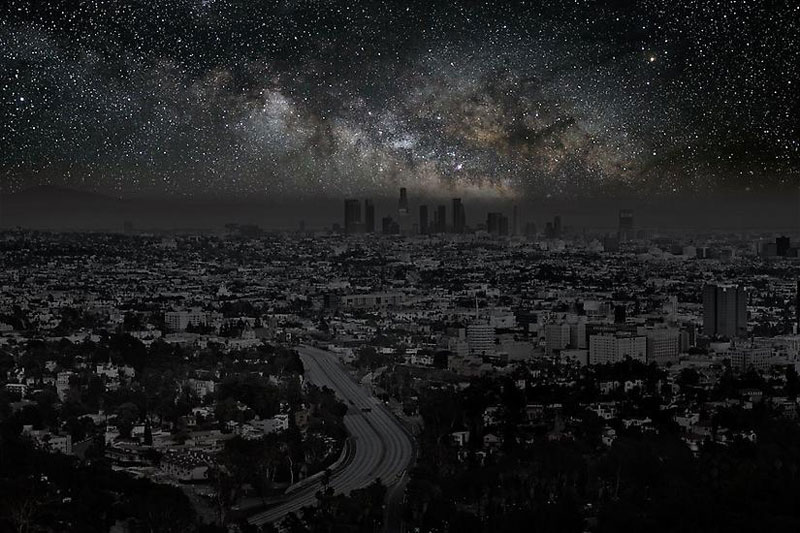 Los_Angeles_darkened cities by thierry cohen