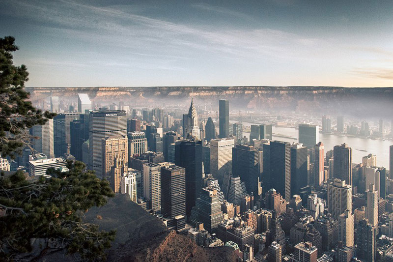 manhattan new york inside the grand canyon by gus petro (3)