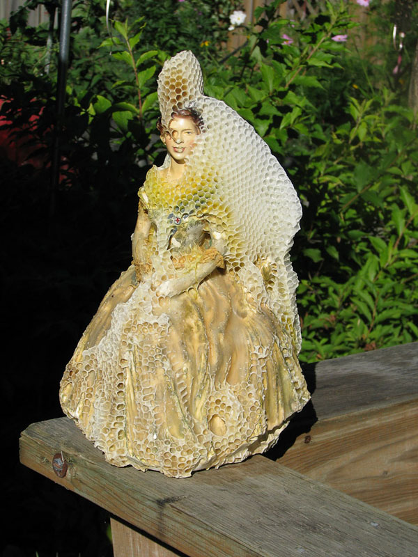 masked ball dyck honeybee art 2 Natures 3D Printers: Using Honeybees to Create Art