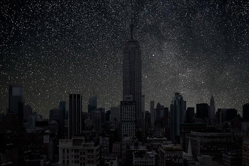 New_York_darkened cities by thierry cohen