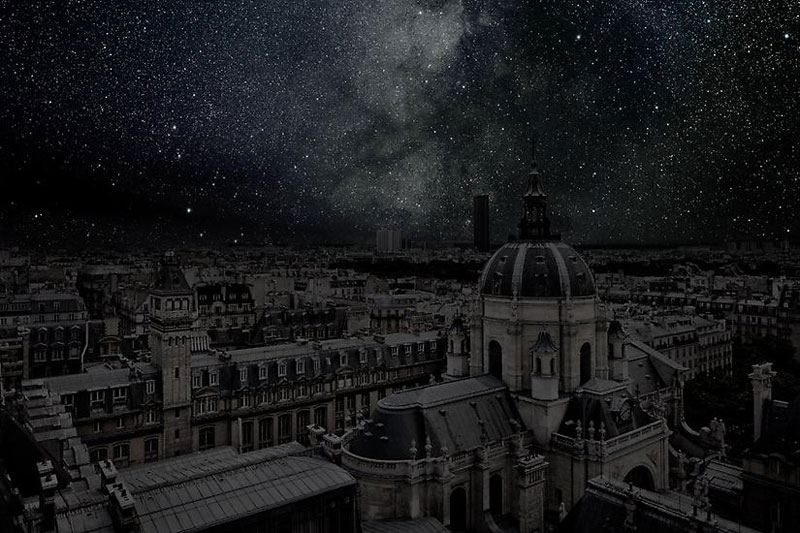 Paris_darkened cities by thierry cohen