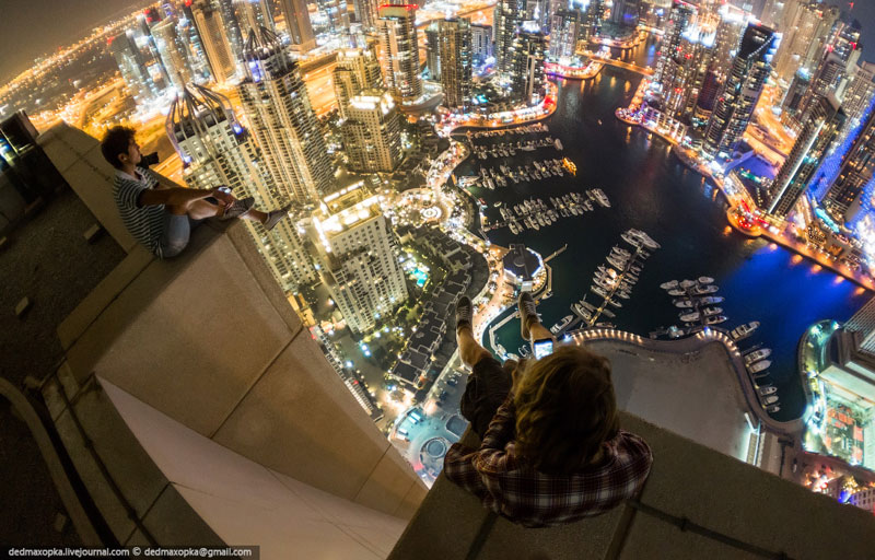rooftopping dubai urban exploration vadim makhorov 13 Heres What Wingsuit Flying Through a 20 ft Gap at 100 mph Looks Like