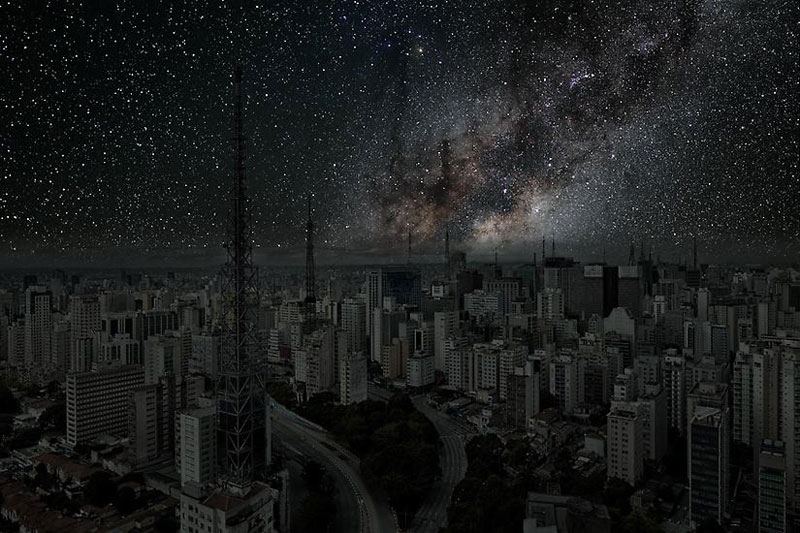 Sao_Paulo_darkened cities by thierry cohen