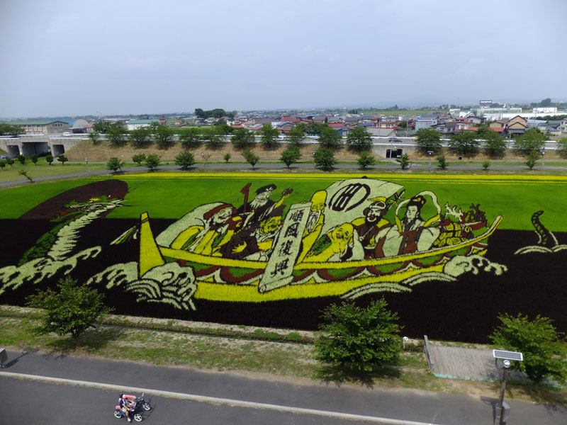 tanbo japanese rice field art (4)