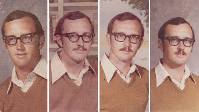 techer wears same yearbook photo outfit for 40 years (2)