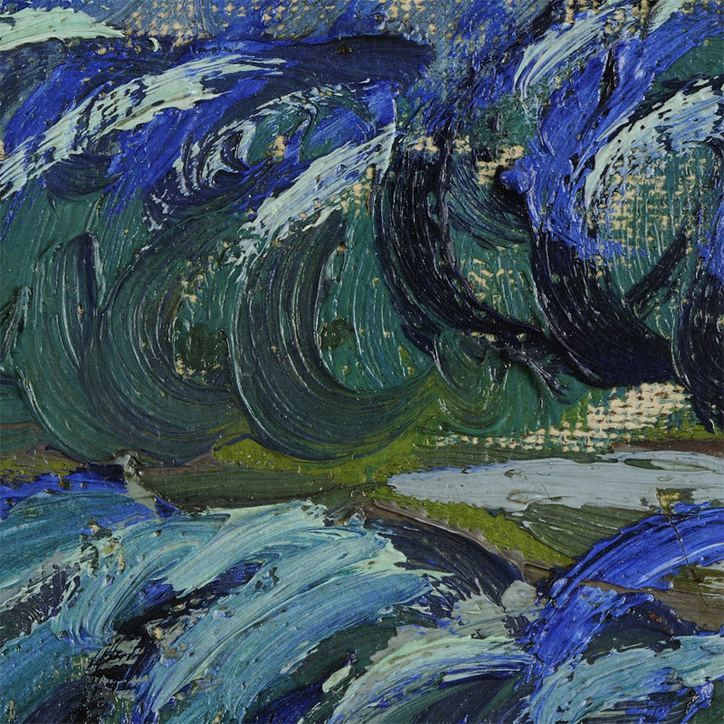 the starry night vincent van gogh close up 6 Incredibly Detailed Close Ups of Van Goghs Masterpieces