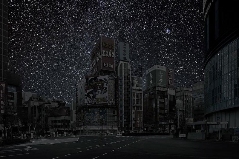 Tokyo darkened cities by thierry cohen
