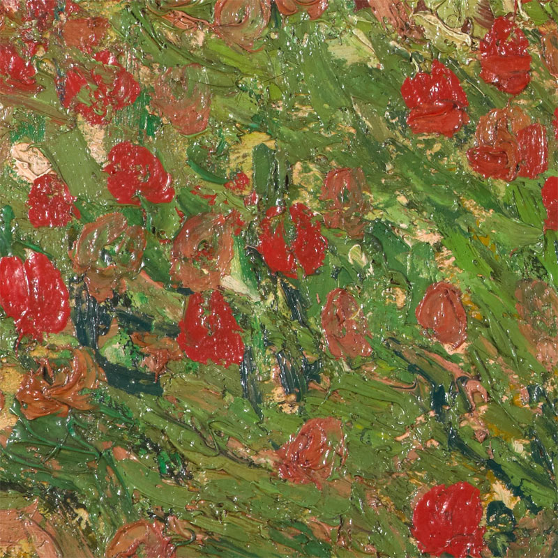 vincent van gogh poppy field close up4 Incredibly Detailed Close Ups of Van Goghs Masterpieces