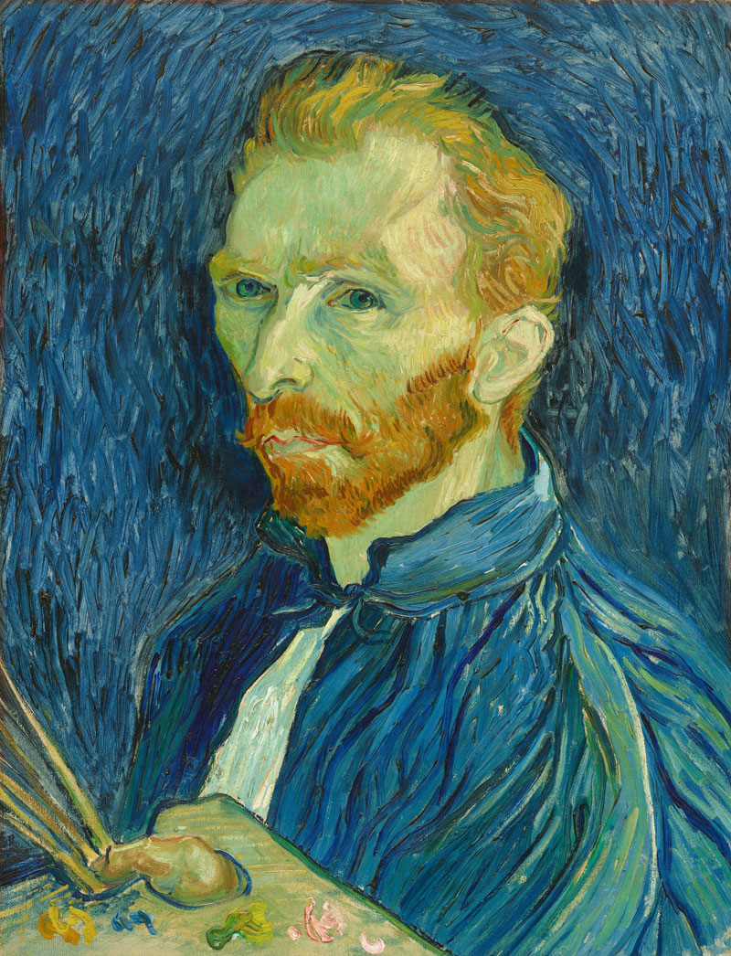 vincent van gogh self portrait 1889 national gallery of art Extremely Detailed Close Ups of Van Goghs Masterpieces