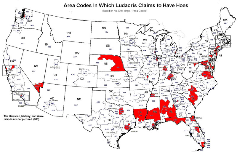 area codes in which ludracris claims to have hoes 40 Maps That Will Help You Make Sense of the World
