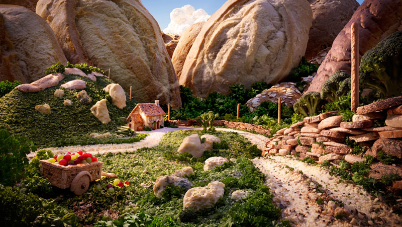 breadford and cheesedale carl warner 15 Surreal Landscapes Made from Food