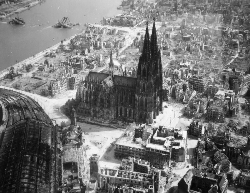http://twistedsifter.com/2013/08/cologne-cathedral-during-wwii/
