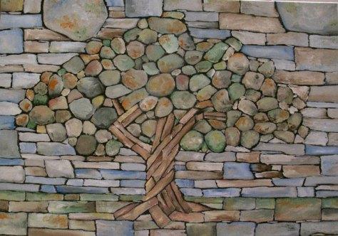 dry stone tree wall memorial eric landman (1)