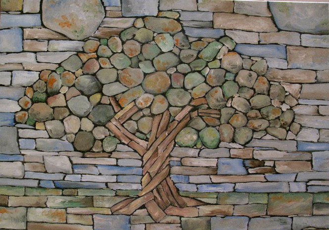 Dry Stone Tree Wall Memorial Eric Landman (1) Design Ideas