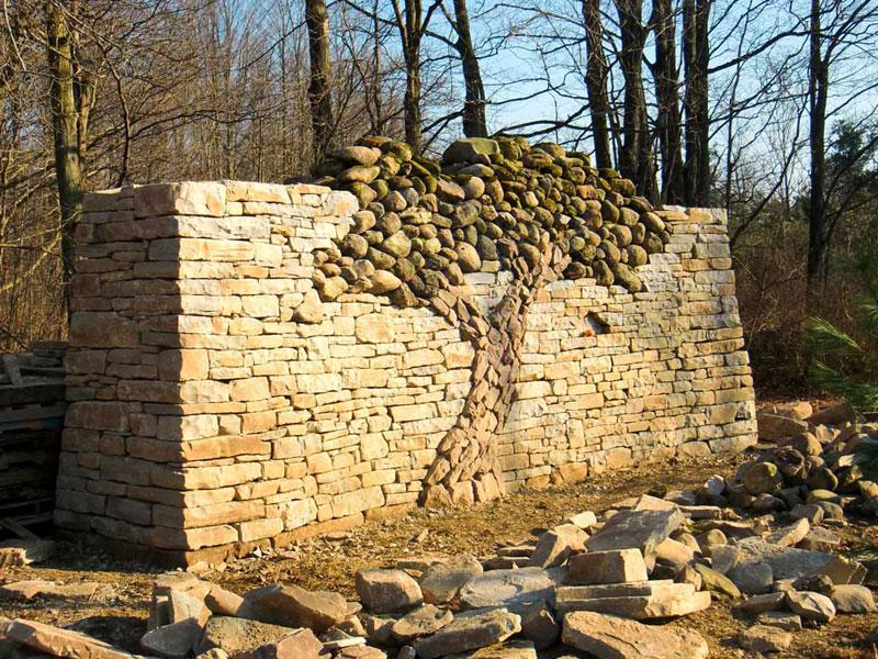 dry stone tree wall memorial eric landman (5)