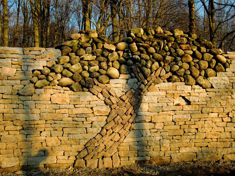 The Dry Stone Tree Wall that LoveBuilt