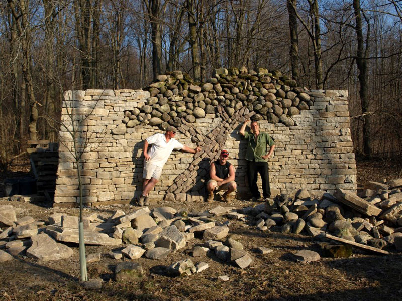 dry stone tree wall memorial eric landman 7 Couple Creates the Most Beautiful Stone Walls Ever