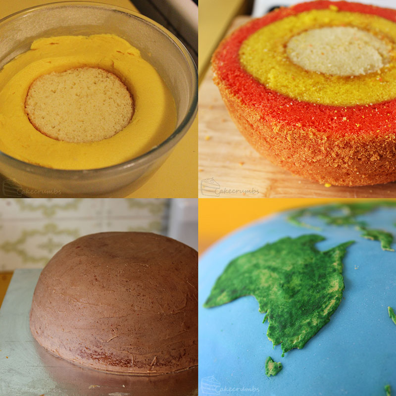 earth planet cake by cakecrumbs 2 Spherical Layer Cake Planets by Cakecrumbs