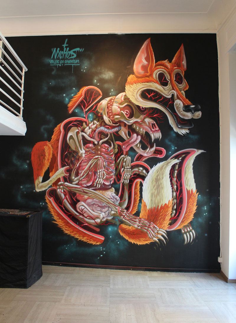 Exploded view street art murals by nychos twistedsifter for Mural street art