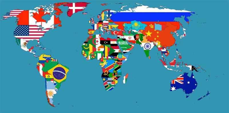 Flag Map Denmark Puerto