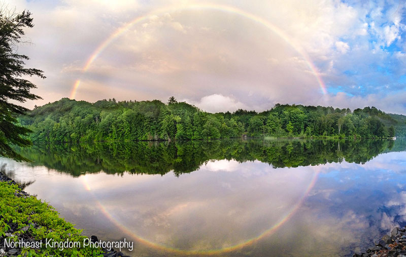 full circle rainbow reflection The Top 75 Pictures of the Day for 2013