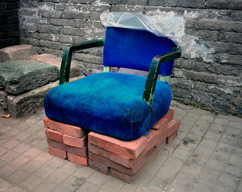 Homemade Chairs on the Streets of China