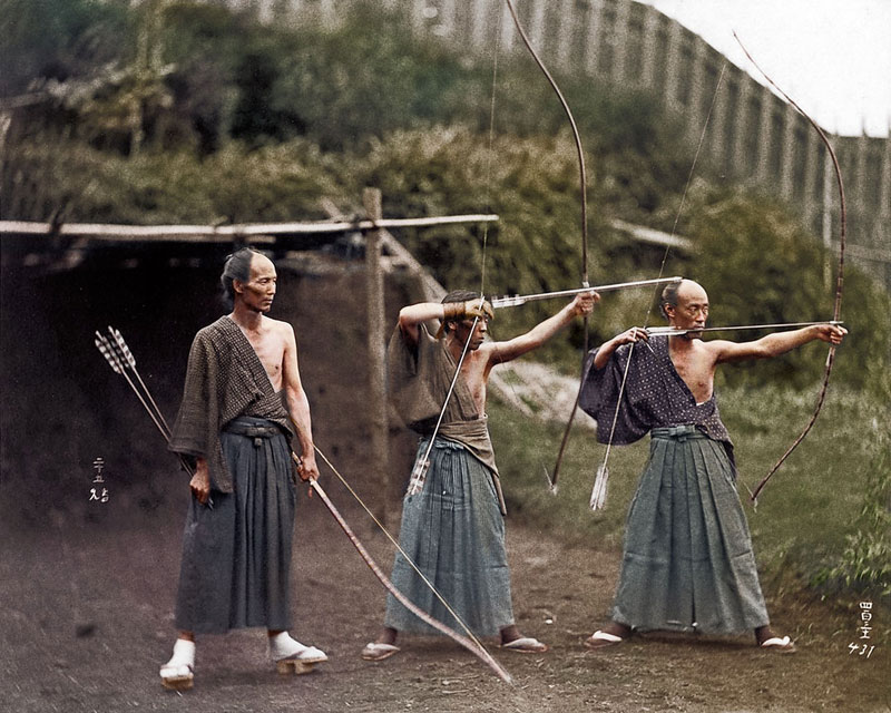 Kyudoka--Japanese-Archers-c1860-photo-chopshop