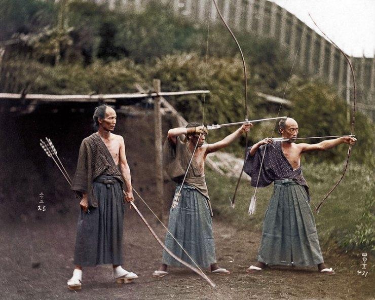 Kyudoka--Japanese-Archers-c1860-photo-chopshop