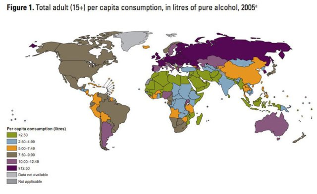 map-of-alocohol-consumption-around-the-world