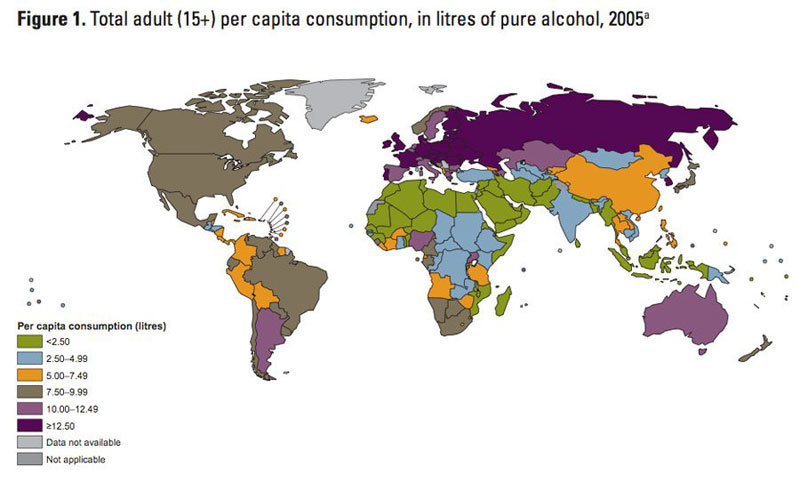 map of alocohol consumption around the world 40 Maps That Will Help You Make Sense of the World