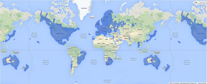 map of the world where google street view is available 40 Maps That Will Help You Make Sense of the World
