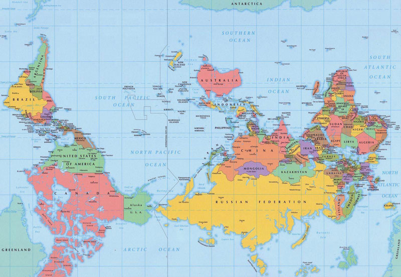 Map Of World Upside Down South Pole On Top 40 Maps That Will Help You Make