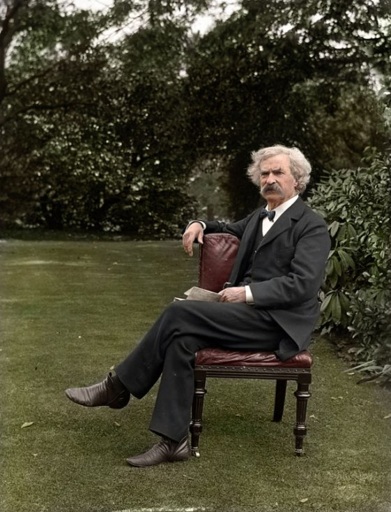 Mark-Twain-in-the-garden,-ca