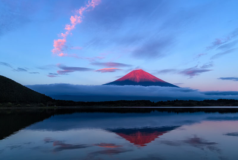 mount fuji sunset Picture of the Day: Red Fuji Sunset