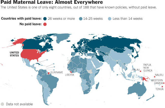paid maternal leave by country 40 Maps That Will Help You Make Sense of the World