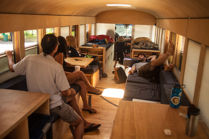 school bus conversion hank 15 This DIY Sauna Raft is All Kinds of Awesome