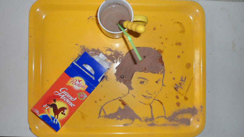 speed painting portraits made from various foods and drinks (13)