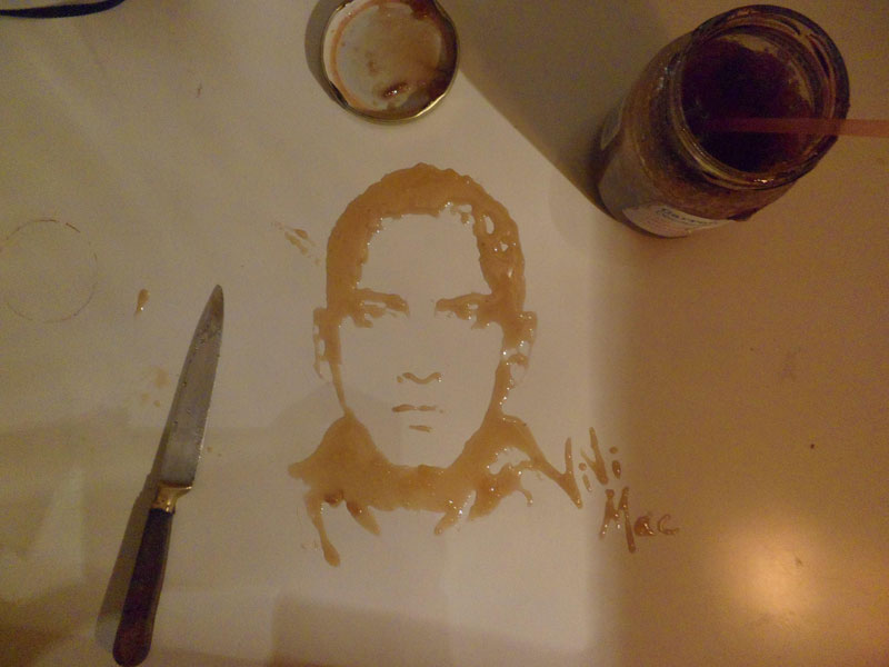 speed painting portraits made from various foods and drinks (5)
