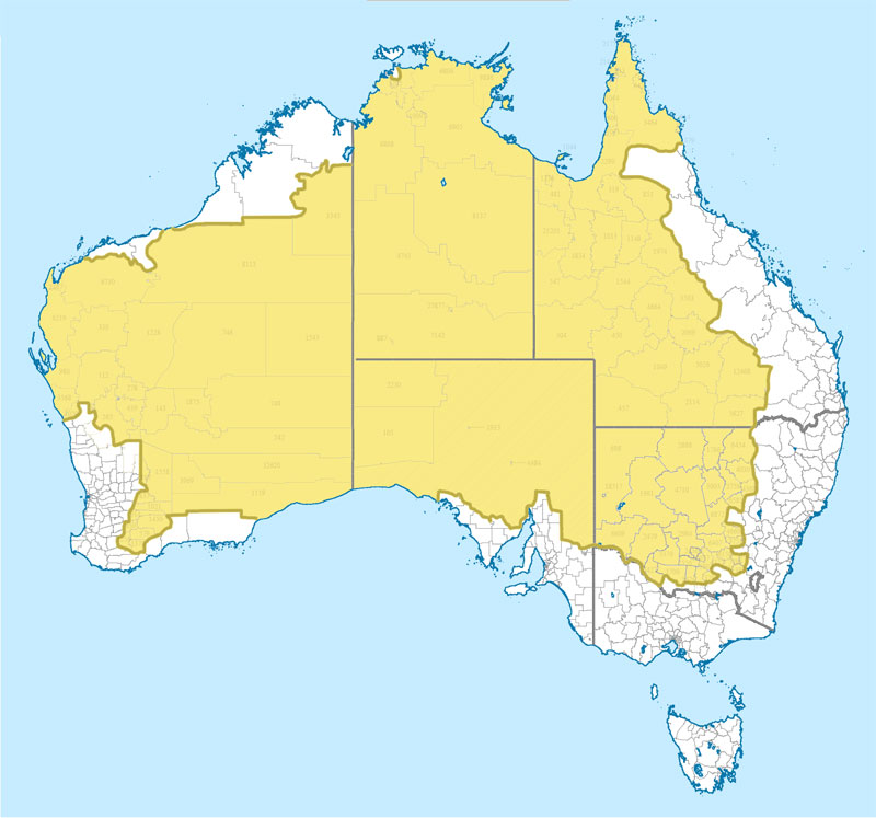 Will writing service australia map