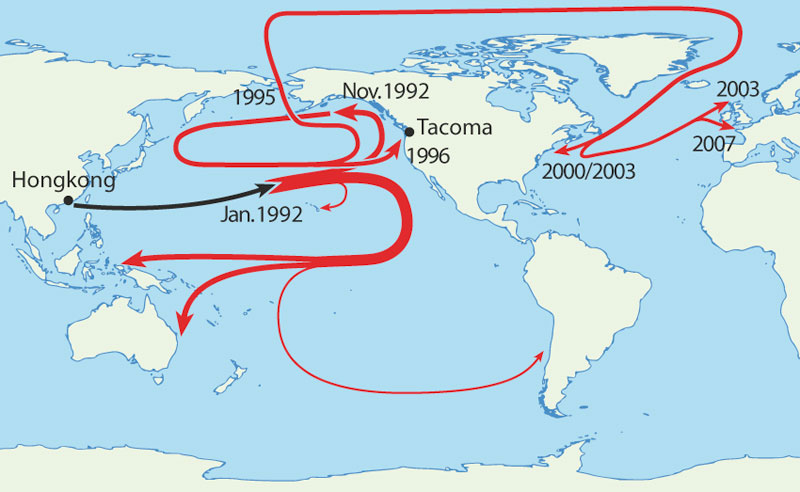 where rubber ducks made landfall after being dumped in pacific ocean 40 Maps That Will Help You Make Sense of the World